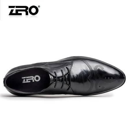Zero零度布洛克皮鞋 男2016春季新品时尚正装皮鞋 男真皮男鞋子