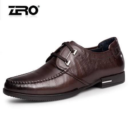 Zero零度休闲皮鞋 春季新品男士商务皮鞋时尚系带商务休闲鞋