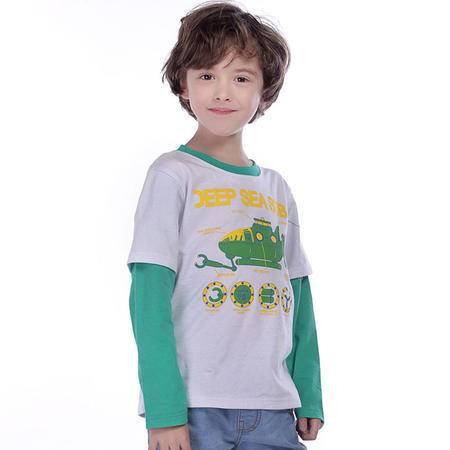 PuffyPuppy童装 全棉新款中大童儿童长袖t恤 男童T恤 打底衫 PGCZ01P07