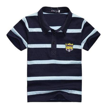PuffyPuppy童装 全棉男童短袖T恤 夏装新款儿童条纹上衣 PGXZ02P35