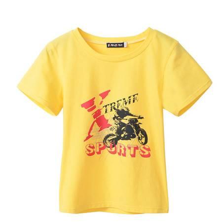 PuffyPuppy夏装新款童装 男童纯棉短袖t恤 儿童大童帅气潮款PFXZ01P35