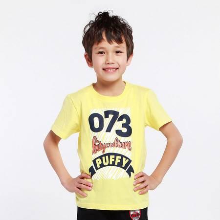 PuffyPuppy童装 纯棉印花短袖T恤 夏装男童上衣 PDXZ01P35