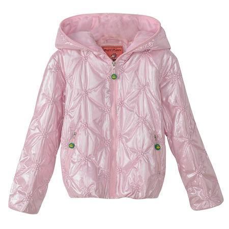 帕菲PEDS13P34冬款精品中大童连帽夹克式加厚棉衣 女童加厚短款棉袄童装