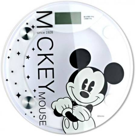迪士尼/DISNEY米奇黑白经典电子秤人体秤健康体重秤DSM-9026