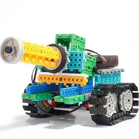 龙越4 合1四通遥控积木套237块百变四通遥控坦克机器人 R721