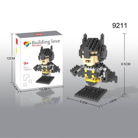 龙越9211拼插启智玩具 塑料微型积木 英雄联盟系列之蝙蝠侠190片