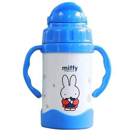 米菲MF-S247宝宝吸管保温杯304不锈钢儿童吸管水壶