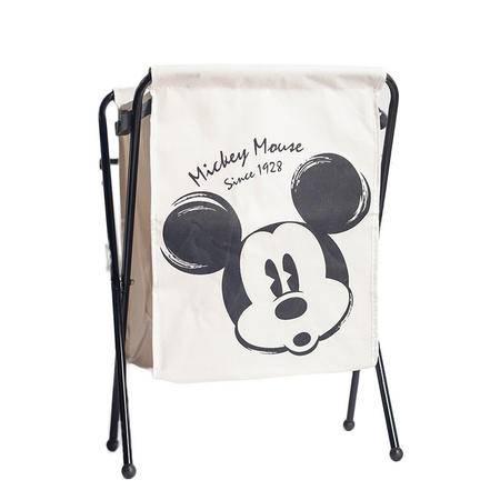 迪士尼/DISNEY米奇黑白经典衣物篮 牛津布防水洗衣篮 脏衣服收纳筐篮DSM-9351