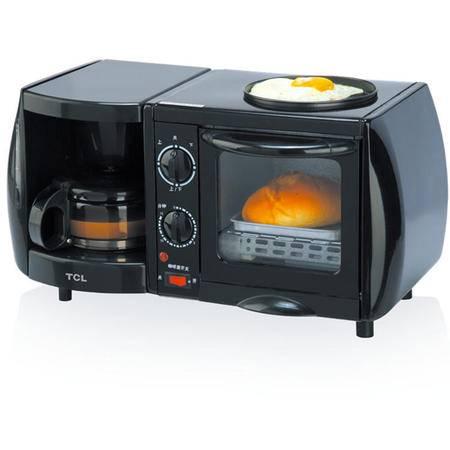 TCL小家电TKX-J05051A多功能早餐吧咖啡壶+烤箱+煎烤盘