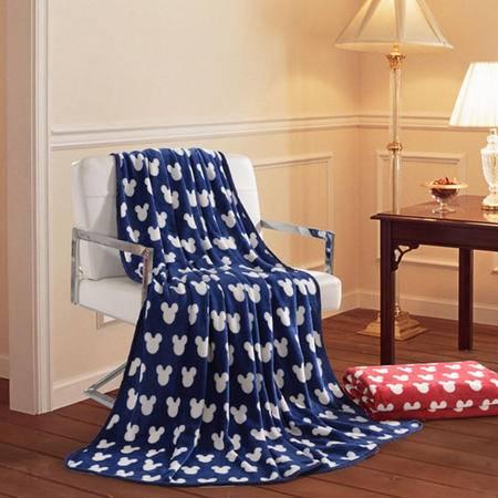 迪士尼/DISNEY 米奇亲子随意毯 法兰绒印花毯子 空调夏凉毯DSN15-0158