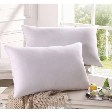 水星家纺108967纤云枕 单人枕头芯全棉舒适透气超柔