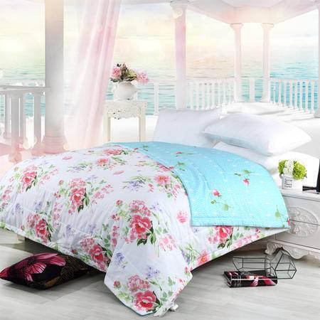 水星家纺108447芬芳季节春夏被 全棉薄被子单人双人纯棉被芯可水洗