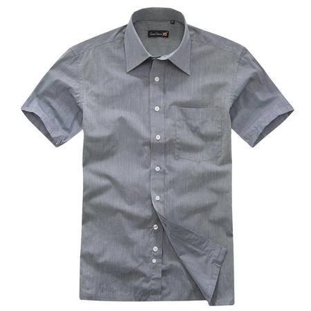 GOOD FUTURE男装 纯棉条纹男式短袖衬衫 夏装全棉男衬衣50STDX1