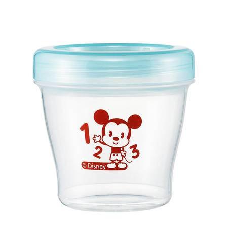 迪士尼/DISNEY辅食储存盒 保鲜密封冷冻盒 宝宝零食盒饭盒 辅食杯E-QA-038B