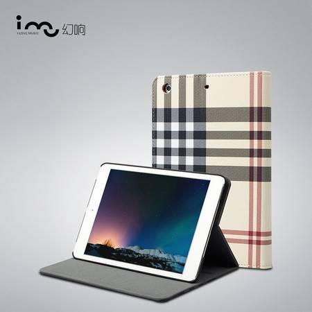 幻响(i-mu)英伦风尚 苹果ipad mini/2/3保护套 智能休眠保护壳 时尚复古格子图案