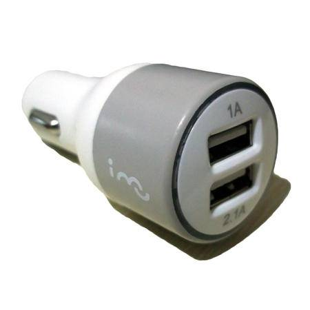 i-mu幻响 双usb输出车载充电器 手机平板充电点烟器