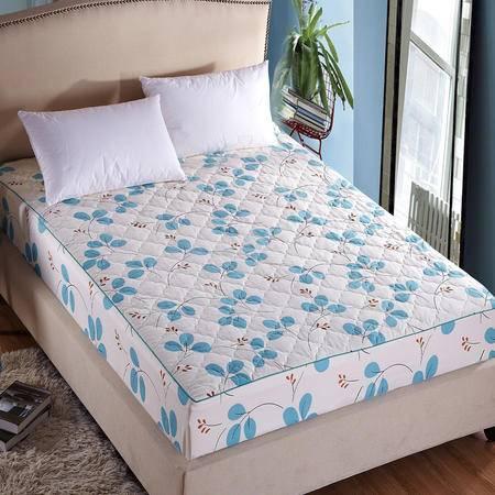 紫兰玉家纺 床上用品 全棉夹棉床笠 纯棉加厚防滑床罩席梦思床垫保护套  1.8*2.0