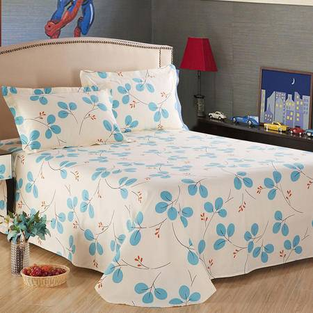 紫兰玉家纺  全棉床单 纯棉斜纹单双人床上用品单件  180*230