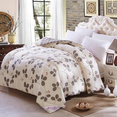 紫兰玉家纺 纯棉被子冬被 加厚丝棉保暖被芯被褥单 1.5*2.1m重5.3斤