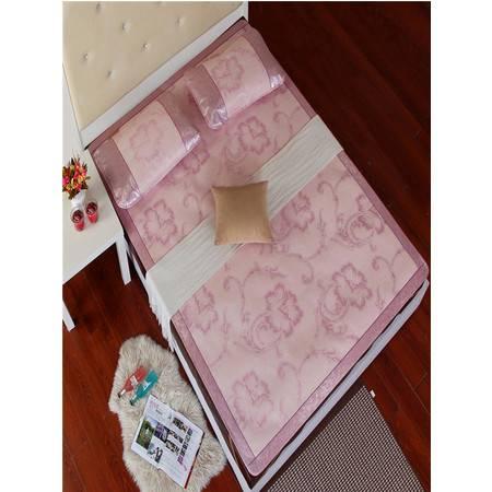 瀚庭-天然冰丝藤席约定粉色1.5米