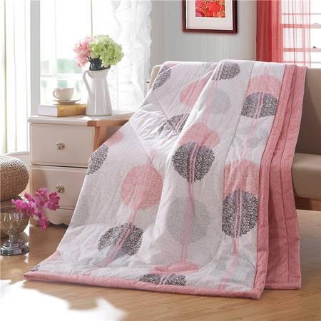 瀚庭-精品全棉夏凉被空调被-粉红女郎1.5米