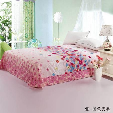瀚庭-全棉单床单2.4*2.6圆角国色天香