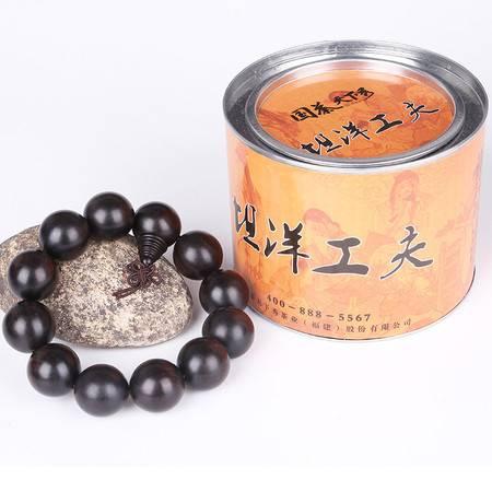 仙源 国茶天下秀 黑檀木佛珠手链20mm+坦洋工夫(红茶)100g 套装