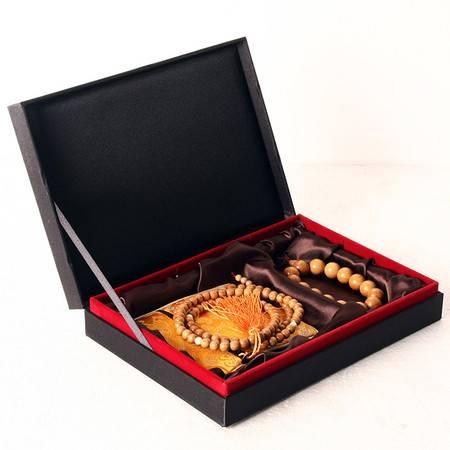 仙源木艺 天然红豆杉 佛珠手链 男女士款  转运珠手串 情侣款礼盒套装