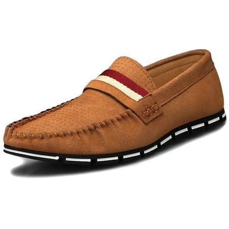 索里奥新款男士反绒牛皮豆豆鞋日常休闲鞋5688