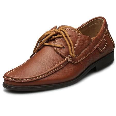 索里奥2014新款男士头层牛皮日常休闲皮鞋舒适驾车鞋8382