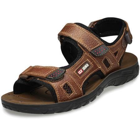 索里奥夏新款男士户外沙滩鞋舒适透气搭扣凉鞋时尚潮流男鞋子9003