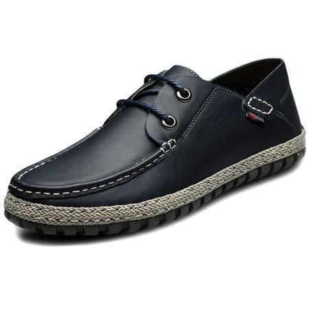 索里奥新款男士头层牛皮日常休闲鞋男鞋7051