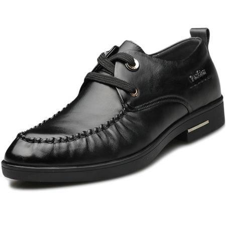 索里奥新款男鞋男士头层软牛皮商务正装皮鞋1885-15