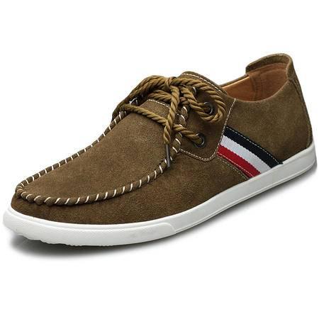 索里奥男士反绒牛皮日常休闲鞋韩版舒适耐磨板鞋1835