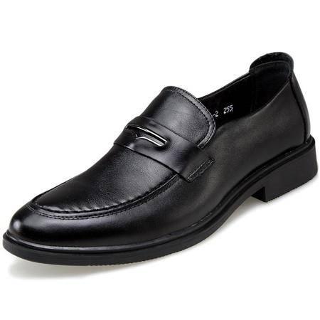索里奥新款男士头层牛皮时尚英伦商务正装鞋9081-2