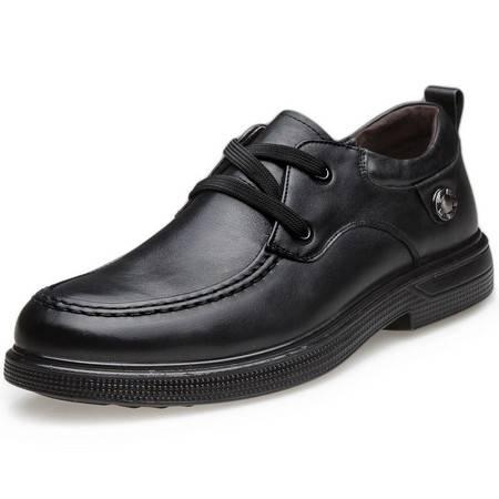 索里奥男士头层软牛皮商务正装鞋D5201-19