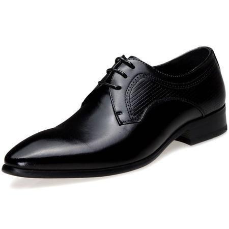 索里奥男士头层牛皮英伦时尚尖头商务正装鞋880-1