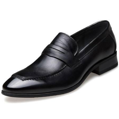 索里奥男士头层牛皮英伦潮流商务正装鞋1983-6