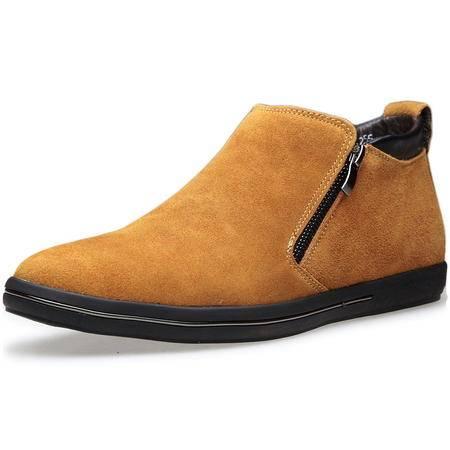 索里奥男士反绒牛皮时尚休闲棉靴保暖皮靴棉鞋1127