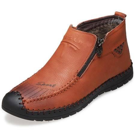 索里奥男士舒适休闲棉靴保暖靴皮靴棉鞋1887