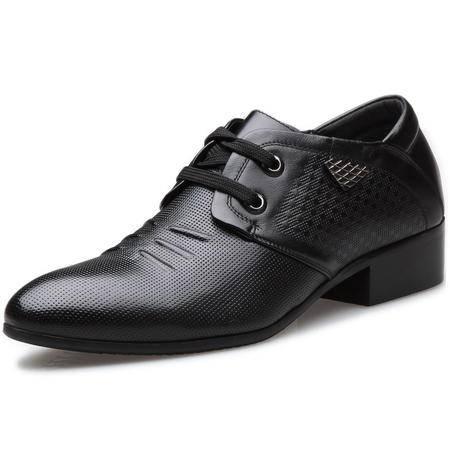 索里奥男士头层牛皮商务正装鞋英伦时尚增高皮鞋单鞋 2889-15