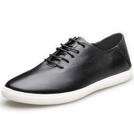 索里奥男士头层牛皮韩版时尚潮流板鞋日常休闲鞋 8766