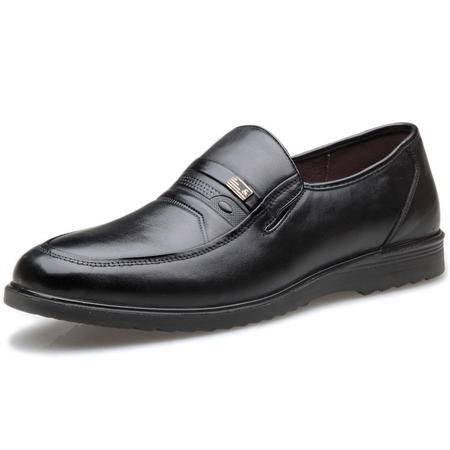 索里奥新款头层牛皮舒适透气轻质商务休闲鞋 116900619