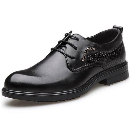 索里奥新款男士头层牛皮欧版百搭时尚正装鞋 2526-3