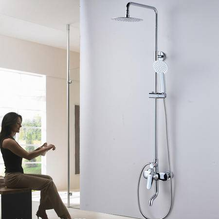 卫欲无限 新款全铜淋浴花洒 大淋浴套装 升降淋浴柱 淋浴龙头80001