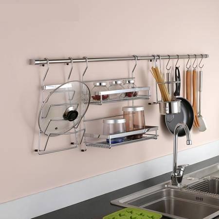 厨欲无限 专业厨房挂件置物架套餐组合 五金挂钩置物架挂杆T09