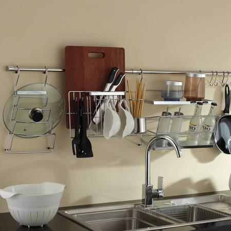 卫欲无限旗下厨欲无限厨房挂件套装 厨房置物架 锅盖架T039