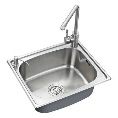 厨欲无限水槽单槽 304不锈钢厨房水槽套装 配304无铅龙头 D5545