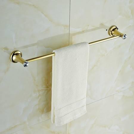 卫欲无限 施华洛水晶奢华欧式系列 镀金卫浴挂件浴挂件 浴室挂件 毛巾杆 毛巾架 单杆