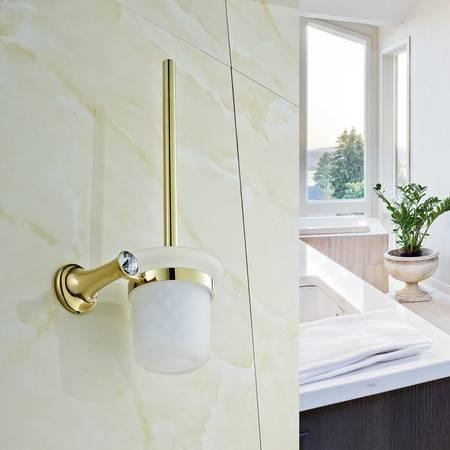 卫欲无限 施华洛水晶奢华欧式系列 镀金卫浴挂件浴挂件 马桶刷杯 马桶刷架